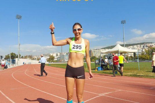 Νέο ρεκόρ κατηγορίας Μ50 στα 1500μ. γυναικών !